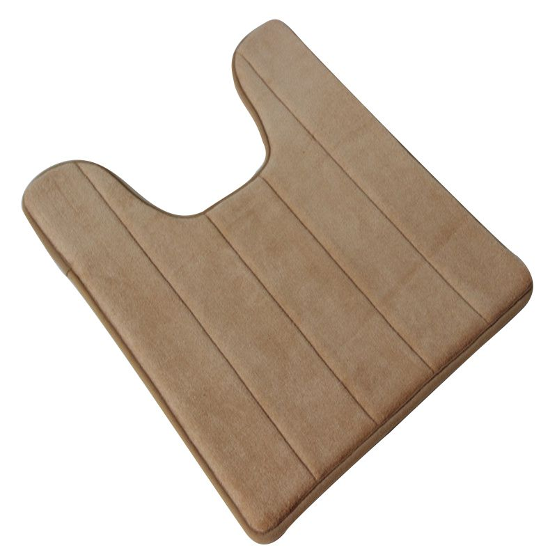 U shaped Cotton Toilet Bathroom Carpet Mat 40 x 60cm Toilet Rug Floor Carpet Pad
