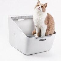 Индуктивный дезодорант кошек Помет Box кошачий Туалет Обучение Kit Pet уничтожающее запах Training пометов Bedpans очиститель товар для кота