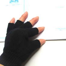Warm Knitted Mens Fingerless Gloves Autumn And Winter  Half Finger Fashion Computer Learning Casual