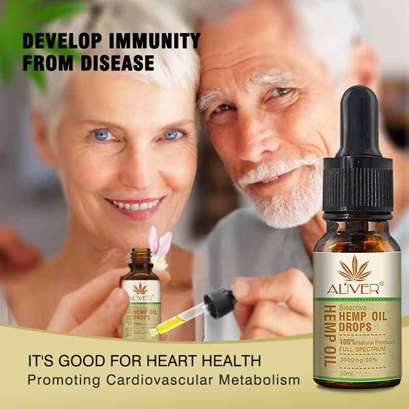 น้ำมันหอมระเหย Organic Hemp Seed น้ำมันหยด Body บรรเทาความเครียดน้ำมันบำรุงผิวหน้า Body Care Pain Relief ความวิตกกังวล