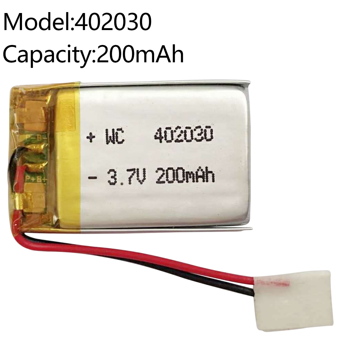 Polymer Lithium Rechargeable Battery 1000/200 MAh Li-ion Battery 3.7V 543450 402030 For Smart Phone DVD MP3 MP4 Led Lamp
