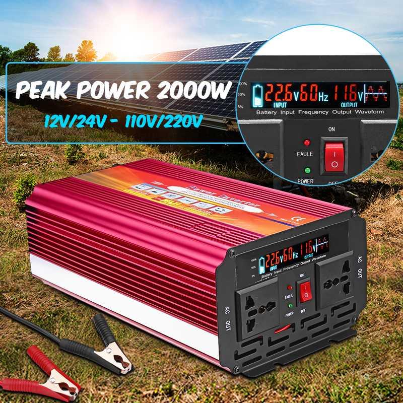 Smuxi LCD Power Inverter DC 12V/24V to AC 110V/220V 6000W  Modified Sine Wave Converter for car and truckSmuxi LCD Power Inverter DC 12V/24V to AC 110V/220V 6000W  Modified Sine Wave Converter for car and truck