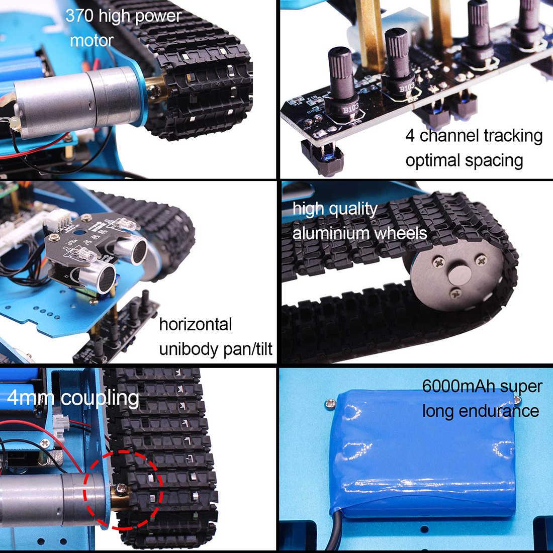 Профессиональный Raspberry Pi Танк умный Роботизированный комплект WiFi беспроводной видео Программирование электронная игрушка DIY робот набор для детей и взрослых
