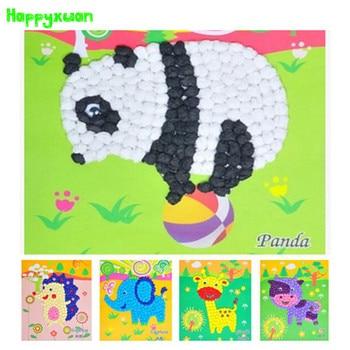 12pcs/lot 2016 New DIY Tissue Paper Ball Art Craft  Animals Panda Horse Elephant Giraffe Handmade Toys for Kids 3-6 years old fonksiyonlu rende