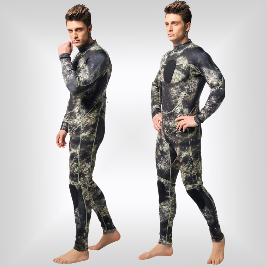 Image 2 - 3mm Neoprene Camo Men Full Wetsuits Warm Winter Swimming Scuba Diving Surfing Spearfishing S/M/L/XL/XXL/XXXL-in Wetsuit from Sports & Entertainment