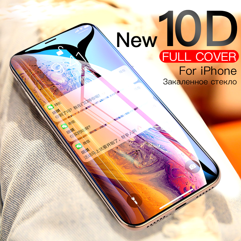 10D Full Glue Tempered Glass For IPhone XS 11 Pro MAX XR X 10 Glasses Protective Glass On The Aphone Iphoen SX Max RX Film Cover