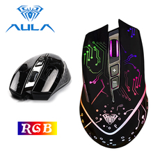 AULA Gaming Mouse USB Wired RGB Ergonomic DPI 5000 Adjustable For Laptop Desktop PC Computer Accessories Gamer Mouse #SI9010