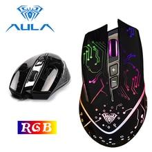 AULA oyun fare USB kablolu RGB ergonomik DPI 5000 için ayarlanabilir dizüstü masaüstü pc bilgisayar aksesuarları oyun fare # SI9010