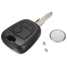 2 кнопки дистанционного ключа чехол оболочки переключатель Ремонтный комплект для peugeot 206