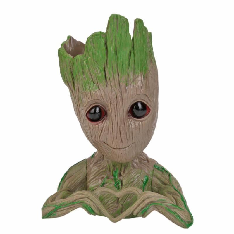 PVC Baby Flowerpot Flower Pot Planter Action Figures Guardians of The Galaxy Toy Tree Man Cute Model Toy Pen Pot Drop Shipping
