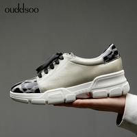 Flat Platform Shoes Women Brogue Shoes Leather Minxed Color Round Toe Oxford Shoes for Women Black Casual Shoes mujer Size 34 40