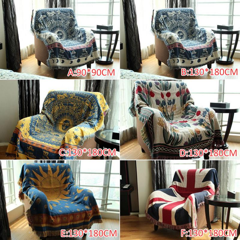 Thicken Pure Cotton Thread Knitted Blanket With Tassel Casual Ethnic Tribal Bohemian Blanket Sofa Cover Bed Blankets Home Decor-1