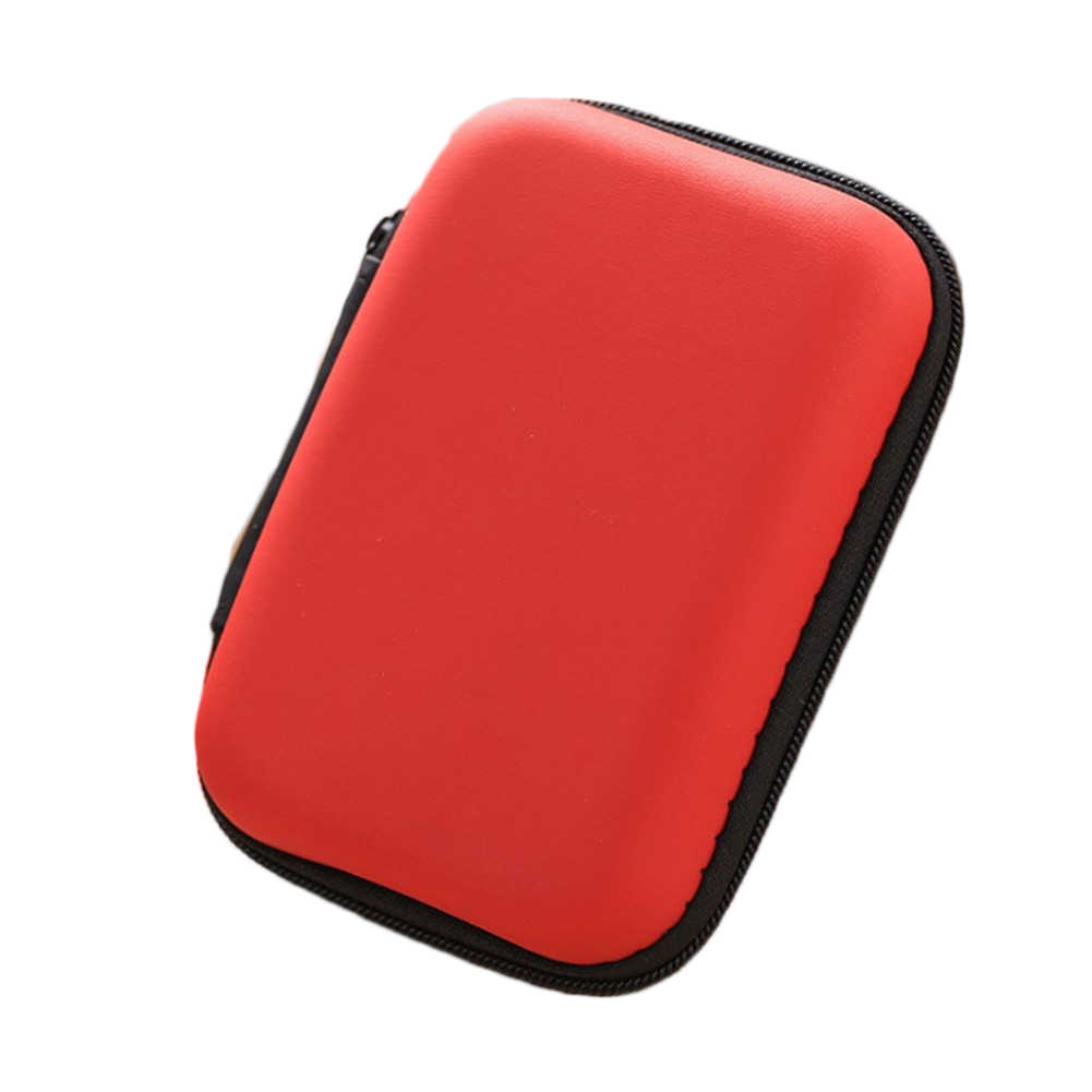1 PC Dompet Koin Portable Mini Dompet Perjalanan Elektronik Kartu SD USB Kabel Earphone Ponsel Charger Case Penyimpanan Hadiah Kantong