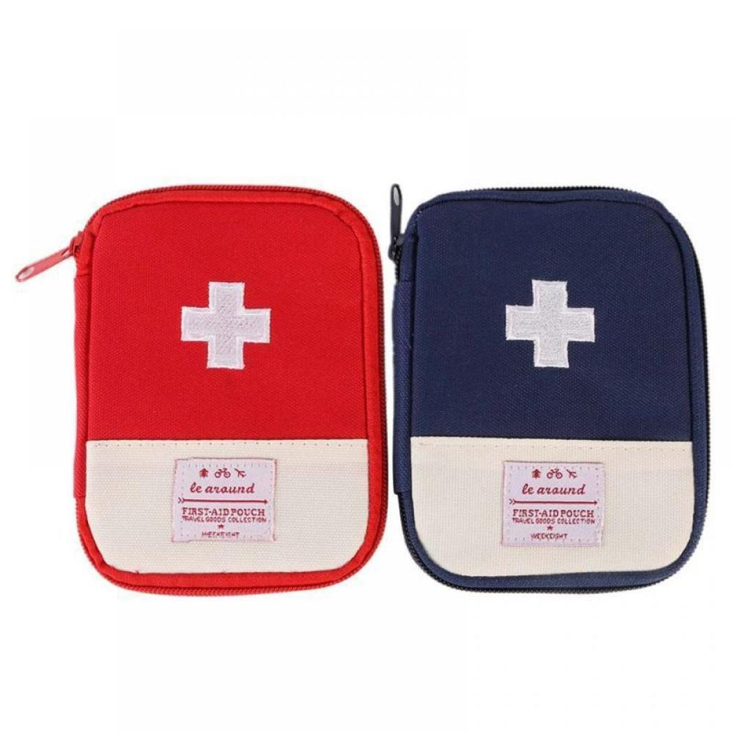 Outdoor First Aid Kit Survival Medical Bag Pouch Treatment Case Emergency Rescue With Zip Closure