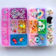 Kleurrijke Mengen Eenhoorn Slime Diy Regenboog Slime Squishy Antistress Kids Foam Bal Katoen Slime Speelgoed Voor Snoep Plasticine Speelgoed Gift