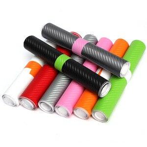 DIY 3D виниловая пленка из углеродного волокна, рулонная пленка, наклейка для автомобиля, домашняя наклейка, лист, прочный, водонепроницаемый, черный, белый, красный, розовый, оранжевый