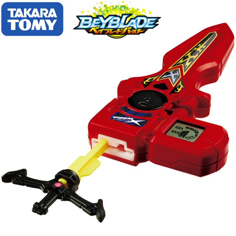 Original TOMY Beyblade rafale lanceur B-94 numérique épée lanceur rouge Double Rotation bey lame Xmas cadeau jouet pour enfants