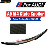 A5 Spoiler Trunk Rear wing tail AEM4-style Carbon fiber For A5Q 2-Door Tail Wing spoile 09-16