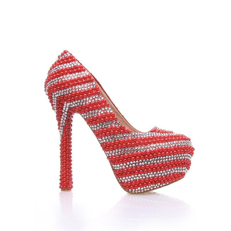 Bal Talons Arrivé Cérémonie 14cm De Femmes Strass Rouge 6cm Haute Heels Red Avec red Anniversaire Argent 10cm Unique Parti Heels Date Chaussures 12cm Mariée 8cm Design Mariage zqdx7z