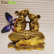 Retro bronze animal mouse sculpture ornaments lucky rat zodiac custom all kinds of auspicious simulation