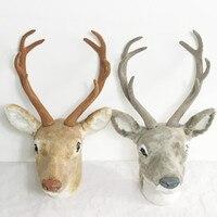 plastic deer head good charms animal head decorative deer head for wall hanger home decor Christmas decoration animal head