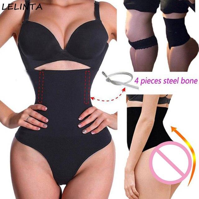576733976ea Women Waist Cincher Girdle Stomach Shaper Tummy Slimmer Sexy Thong Panties  Shapewear Waist Trainer Slimming Hot Body Shapers