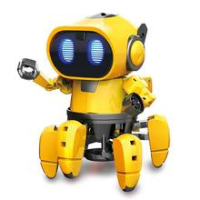 Get more info on the Pro'sKit GE-893 Two Modes STEAM DIY AI Smart Infrared Evades Bonds Walking ABS Materials RC Robot for Children's DIY Toy