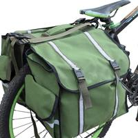 New Bicycle Rear Seat Trunk Bag Waterproof Big Huge Capacity ArmyGreen Bike Saddle Panniers For Cycling Touring Commuter