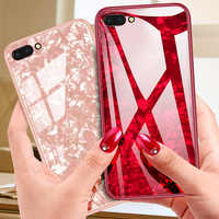 Marble Hard Phone Case For Huawei P30 Lite P20 Pro P10 P9 Mate 10 Pro Honor 20 9 Lite Play 7A 7C Nova 3 3i Tempered Glass Cover