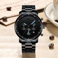 MEGALITH Mens Watches Luxury Simple Design Wrist Watches Waterproof  Chronograph Sports Quartz Watches Clock Relogio Masculino Quartz Watches     -