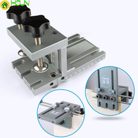 3 In 1 Diy Woodworking Hole Drill Punch Positioner Guide Locator Jig Joinery System Kit Aluminium Alloy Wood Working Tool