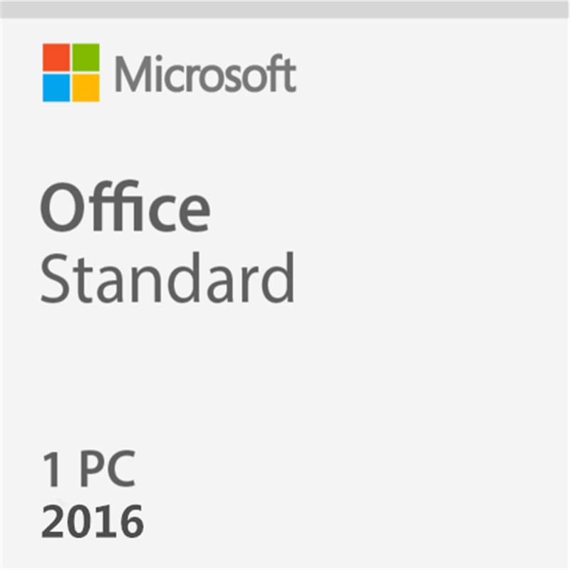 Microsoft Office Standard 2016 Product Key For Windows Retail Box Inside DVD 1 User