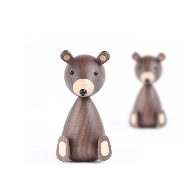 Russia Little bear wood ornaments for decor squirrel for furniture wood crafts shipping small gifts wood bear toy ornament home 6