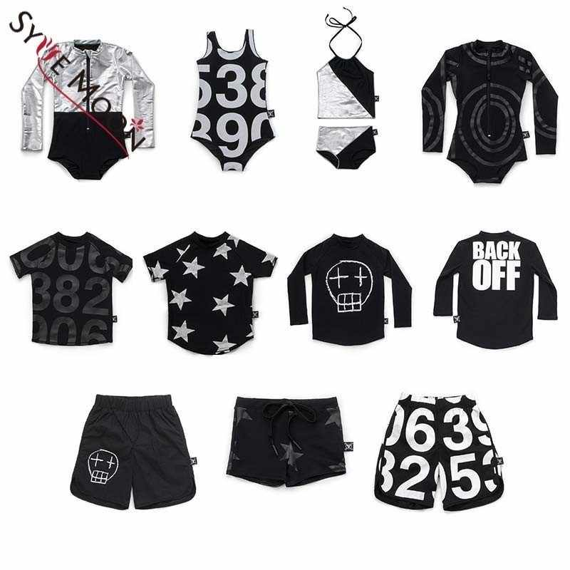 503b7531184d73 Detail Feedback Questions about Kids Swimwear Clothes 2019 Nununu Girls Boys  Beach Swimsuits T Shirts Trunks Baby Children Letter Stars Print Clothing  Suits ...