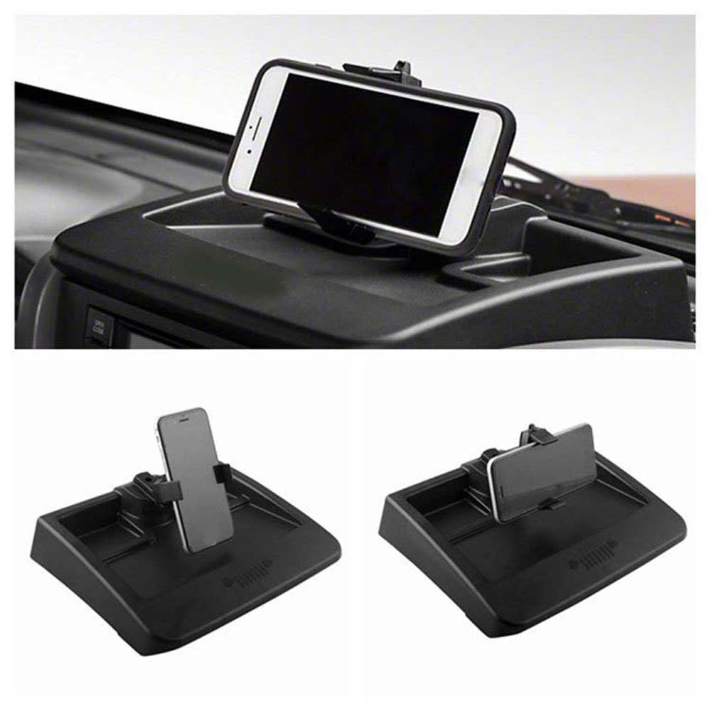 Car Accessory Rugged Ridge Multi Mount ABS Auto Dash 360° Phone Holder Mount Bracket Kit for Jeep Wrangler JK 2007 2010