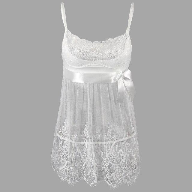 Sexy Women Erotic Plus Size Babydoll Dress Oversized Transparent Women Underwear Sexy Erotic White Lingerie For Sex 5XL 4