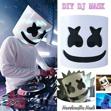 Flash Type DJ Marshmello Latex Mask Bar Cosplay Colorful Full Face Holiday Carnaval Halloween Party Accessory Christmas