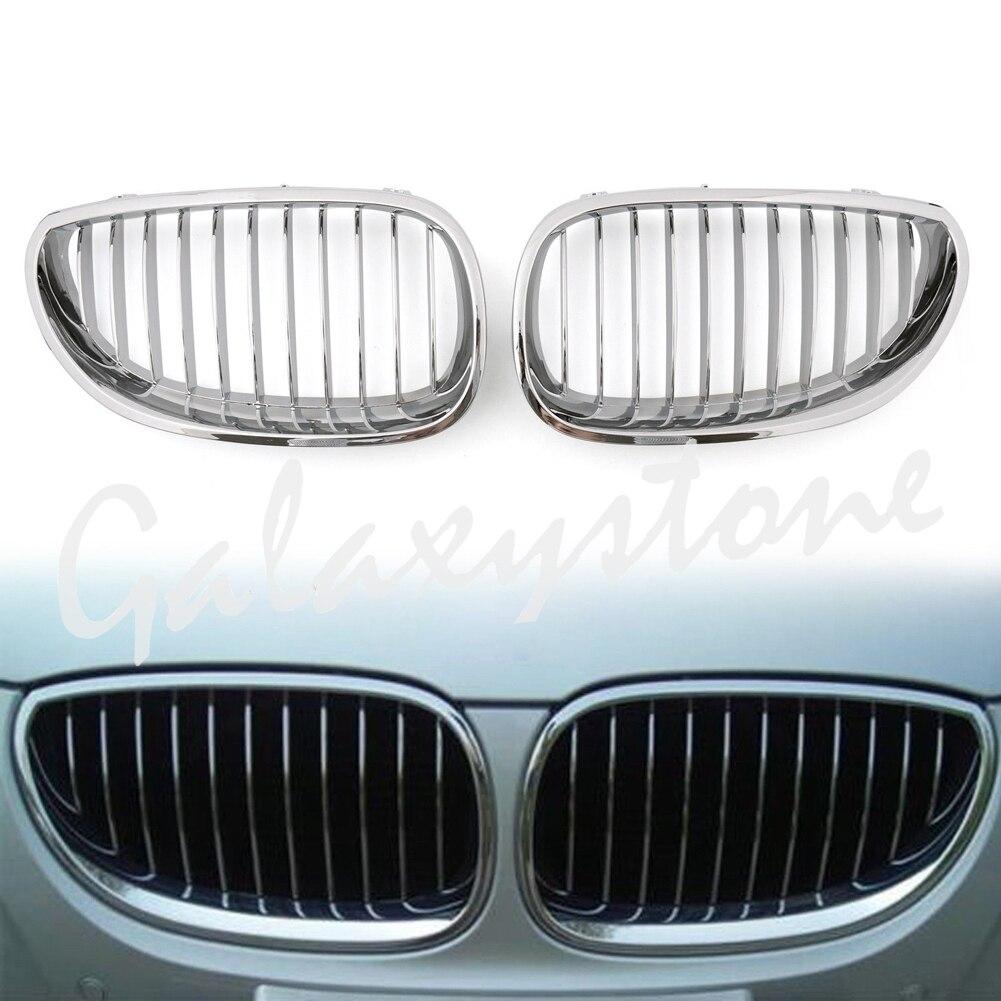 Paire de Grilles avant chromées pour BMW E60 E61 série 5 M5 2003-2009