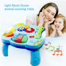 Toys Musical Learning Table Aquatic Creatures Music Activity Center Game Table Toddlers Infant Kids Toys For 1 2 3 Years Old Boy
