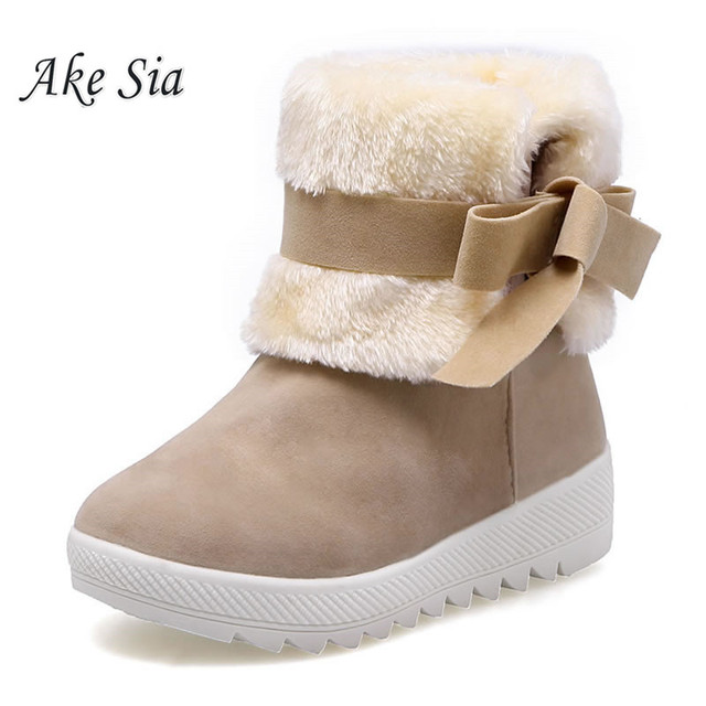 Winter snow boots women's boots children's shoes short boots cotton boots student models bow thick-soled cotton shoes  f003
