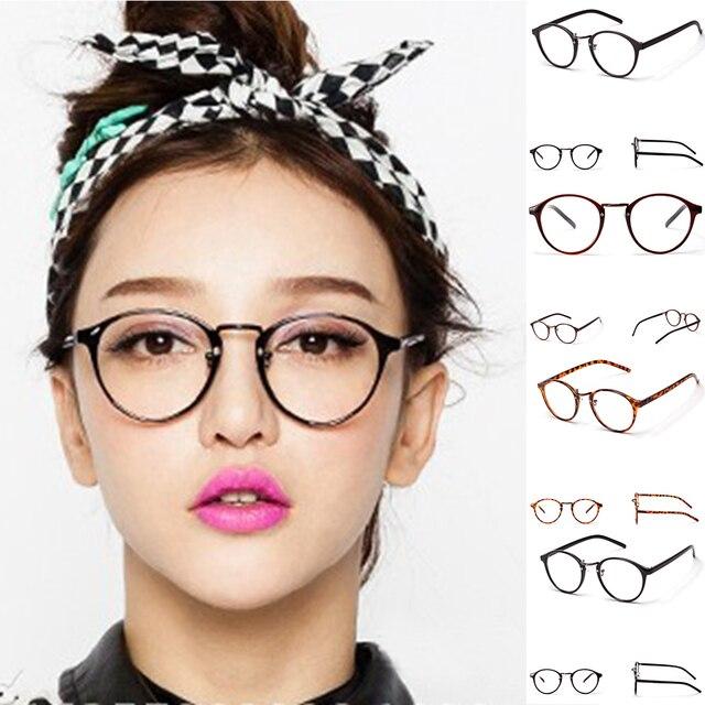 21dc18ee24 2018 Retro Fake Eye Glasses Frame Women Men Clear Lens Myopia Read Glass  Transparent Eyeglasses Optical