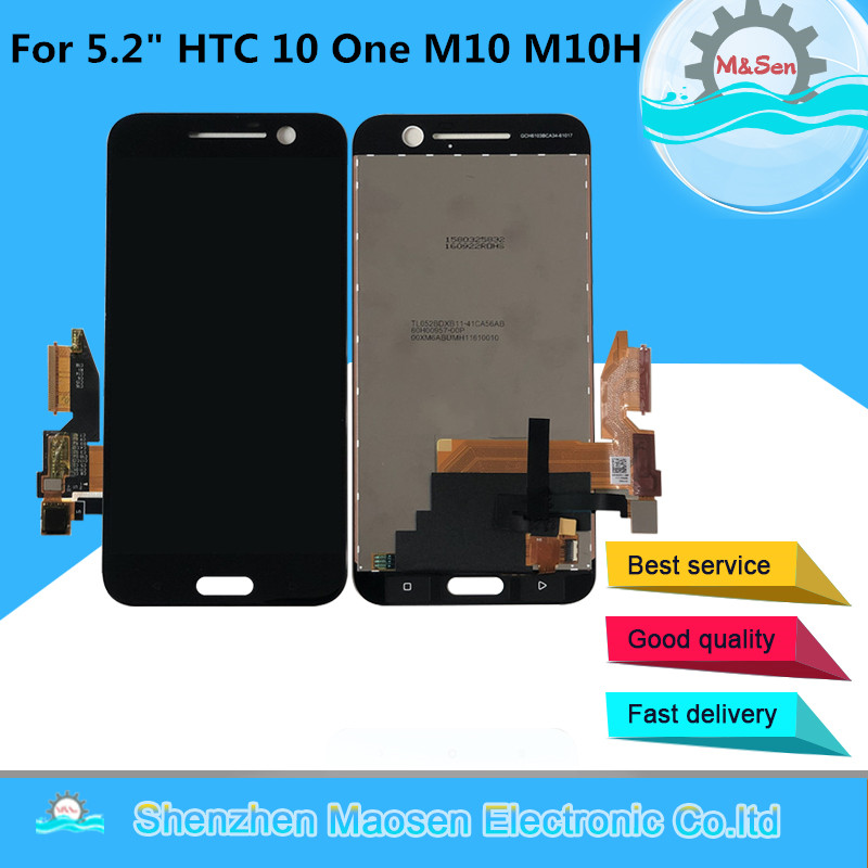 """M&Sen For 5.2"""" HTC 10 One M10 M10H LCD Screen Display+Touch Panel Digitizer Screen For HTC M10 Assembly Repalcement LCD Display"""