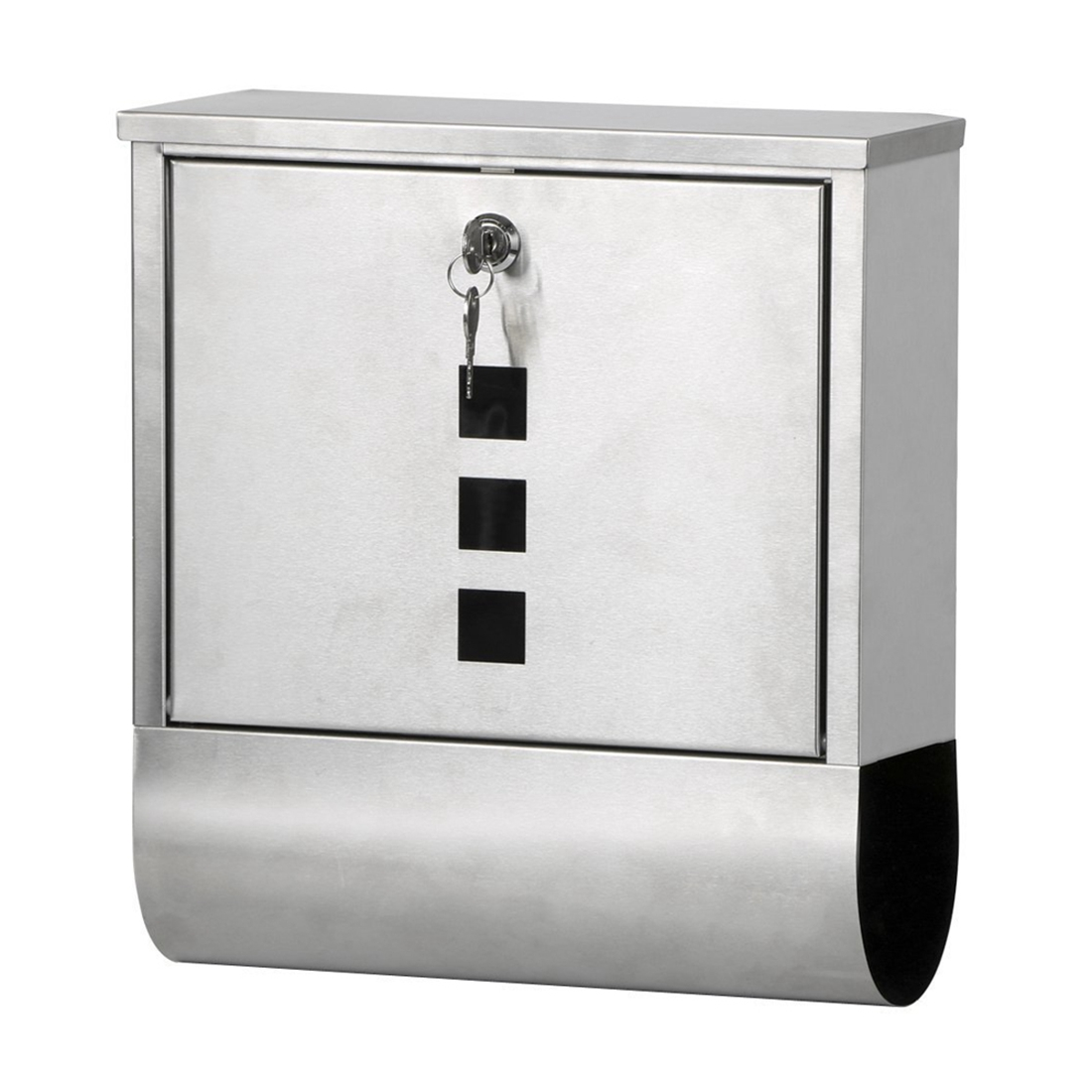 Promotion Waterproof Stainless Steel Lockable Mailbox Newspaper Holder Outdoor Mail Post Letter Box