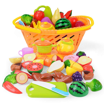 20pcs New Plastic Kitchen Food Fruit Vegetable Cutting Toy Baby Kid  Pretend Play Educational Toys for Children Cooking Cosplay