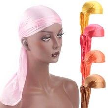 e577d277d79 Men s Silky Durags Bandanna Turban hat Wigs Doo Men Satin Durag Biker  Headwear Headband Hair Accessories Extra Long Tail Du-Rag