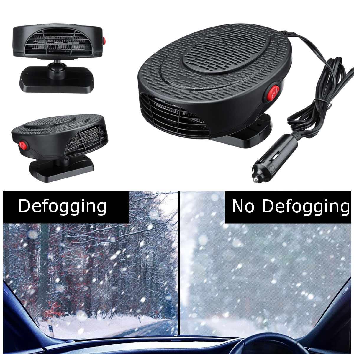 12 V 150 W Protable Auto Auto Riscaldatore Di Ventilatore Removng Nebbia + Sbrinamento + Aria Fredda + Aria Calda Di Guida Sbrinatore Disappannatore Riscaldamento Ventola Di Raffreddamento