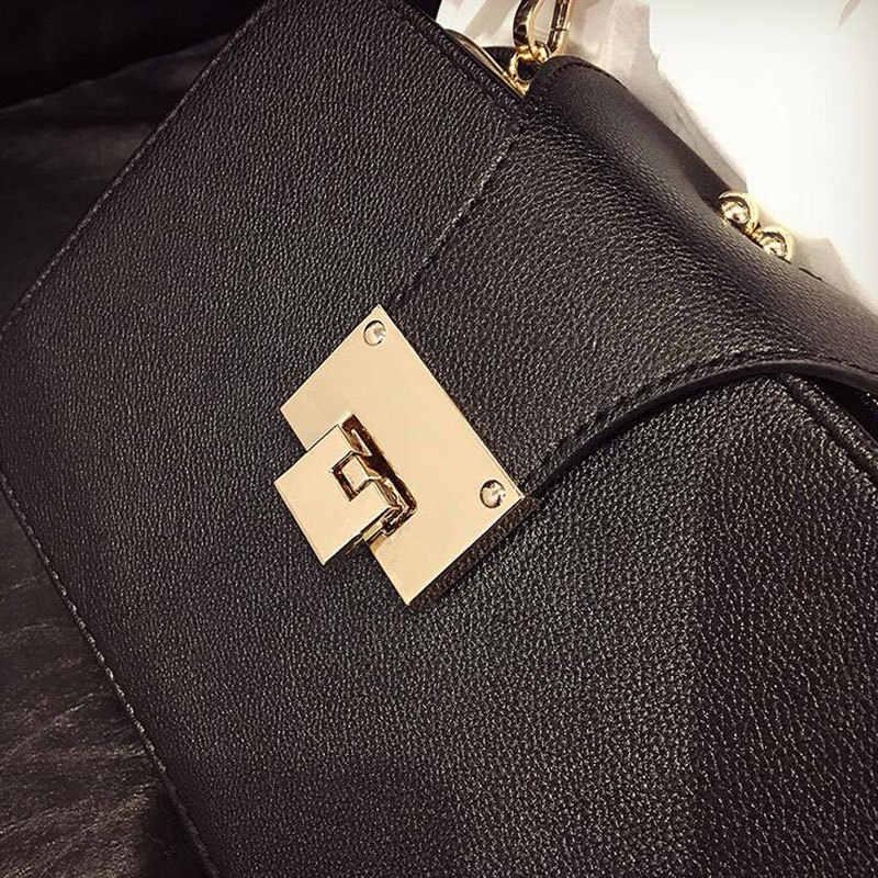 2018 модная женская сумка через плечо с цепочкой на ремешке с клапаном дизайнерские сумки клатч сумка через плечо женская сумка-мессенджер с металлической пряжкой