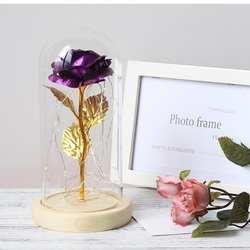 Красная роза со светодиодный подсветкой домашний Декор Свадебная вечеринка 1 х синий, фиолетовый, золотой, День матери подарок AAA