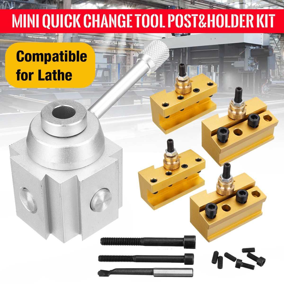 New Quick Change Post Holder Kit Set Tool Holder Boring Bar Turning Tool Holder For CNC Mini LatheNew Quick Change Post Holder Kit Set Tool Holder Boring Bar Turning Tool Holder For CNC Mini Lathe