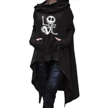 Frauen Lange Unregelmäßigen Buchstaben Druck Sweatshirt Femmes Tops Hoodies Sweatshirts Dicken Lustige Frauen Lose Kreative Komfortable